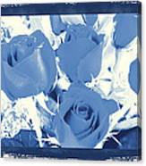 Blue For You Roses Canvas Print