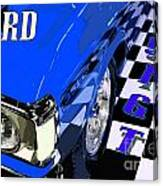 Blue Ford 351 Gt Canvas Print