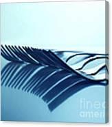 Blue Forks Canvas Print