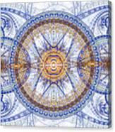 Blue Fractal Inception  Canvas Print