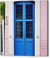 Blue Front Door New Orleans Canvas Print