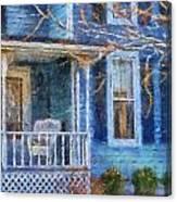Blue Front Porch Photo Art 01 Canvas Print