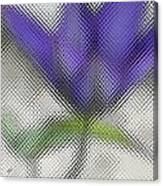 Blue Glass Flower Canvas Print