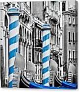 Blue Gondolas Canvas Print