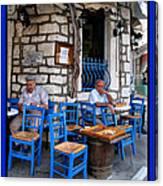 Blue Greek Taverna Canvas Print