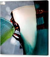 Blue Green Art Glass 2 Canvas Print