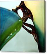 Blue Green Art Glass Canvas Print
