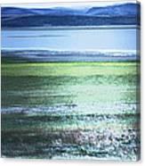 Blue Green Landscape Canvas Print