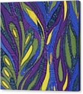 Blue Green Purple Abstract Silk Design Canvas Print
