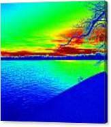 Blue Green River Canvas Print