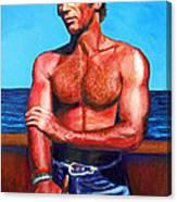 Blue Grotto Boatman Canvas Print