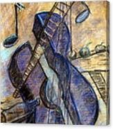 Blue Guitar - About Pablo Picasso Canvas Print