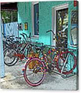 Blue Heaven Key West Bicycles Canvas Print