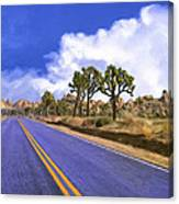 Blue Highway 2 Canvas Print