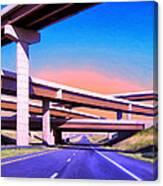 Blue Highway 7 Canvas Print