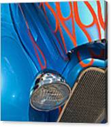 Blue Hot Rod Canvas Print