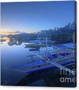 Blue Hour At Panglao Port Canvas Print