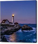 Blue Hour At Portland Head Lighthouse Canvas Print