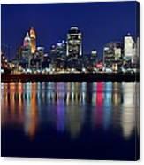 Blue Hour In Cincinnati Canvas Print
