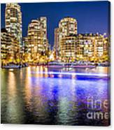 Blue Hour In Vancouver Canvas Print
