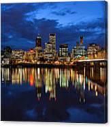 Blue Hour Reflection II Canvas Print