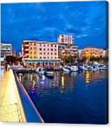 Blue Hour Zadar Waterfront View Canvas Print