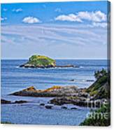 Blue House With An Ocean View Canvas Print