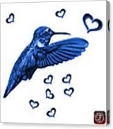 Blue Hummingbird - 2055 F S M Canvas Print
