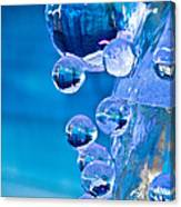 Blue Ice Bubbles Canvas Print