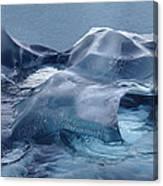 Blue Ice Sculpture Canvas Print