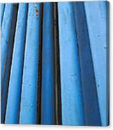 Blue Industrial Pipes Canvas Print