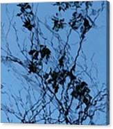 Blue Ink Canvas Print