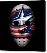 Blue Jackets Goalie Mask Canvas Print