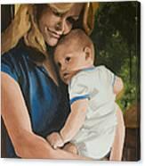 Blue Jean Madonna Canvas Print