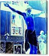 Blue Jesus Canvas Print