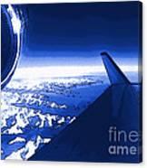 Blue Jet Pop Art Plane Canvas Print