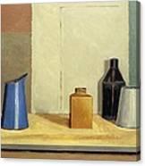 Blue Jug Alone Canvas Print