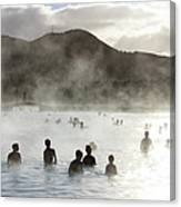Blue Lagoon Geothermal Spa Canvas Print