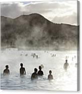 Blue Lagoon Geothermal Spa Canvas Print