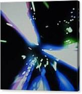 Blue Laser Canvas Print