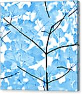 Blue Leaves Melody Canvas Print