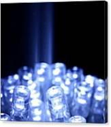 Blue Led Lights With Light Beam Canvas Print