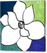 Blue Magnolia 2- Floral Art Canvas Print