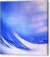 Blue Marvel. Lighten Your Day With Music Canvas Print