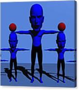 Blue Men Canvas Print