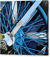 Blue Mg Wire Spoke Rim Canvas Print
