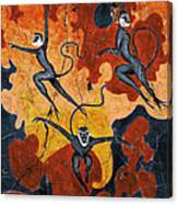 Blue Monkeys No. 8 - Study No. 1 Canvas Print