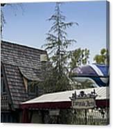 Blue Monorail Fairytale Arts Disneyland Canvas Print