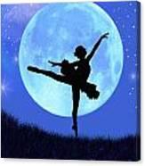 Blue Moon Ballerina Canvas Print