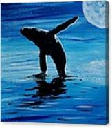 Blue Moon I - Left Side - Acrylic Canvas Print